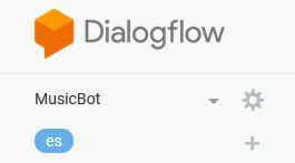 Agente en Dialogflow