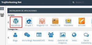Instalar wordpress desde el cPanel de tu hosting