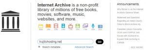 Buscar web en archive.org