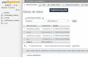 Crear base de datos en phpmyadmin de Xampp