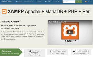 Portal web de apachefriends(descargar xampp)