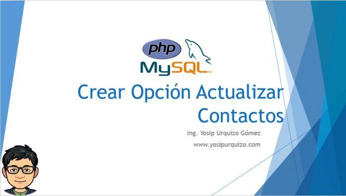 Crear Opcion Actualizar Contactos