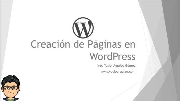 Creación de Páginas en WordPress