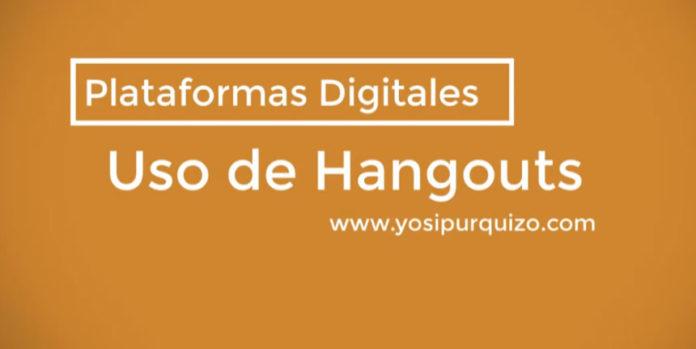Uso de Hangouts